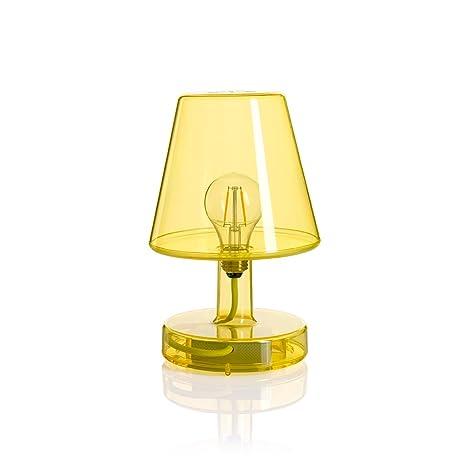Lampade A Batteria Da Tavolo.Lampada Da Tavolo Led Touch In Policarbonato Con Batteria Ricaricabile Colore Giallo