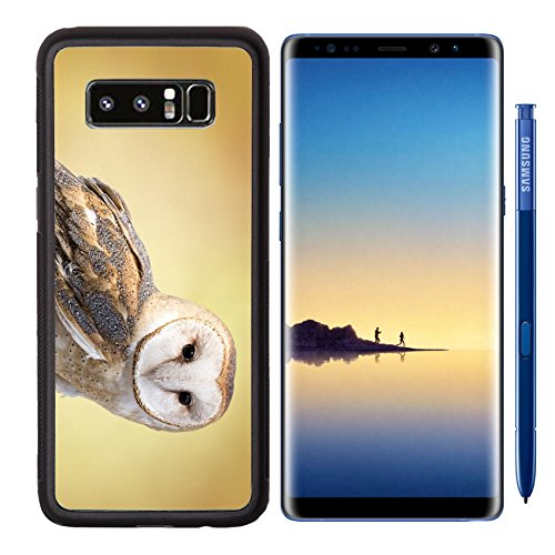 MSD Samsung Galaxy Note 8 Aluminum Backplate Bumper Snap Case IMAGE ID 27944160 A barn owl perched on a dead tree stump Barn Owls are silent predator