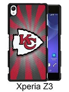 Kansas City Chiefs 06 Black Sony Xperia Z3 Screen Phone Case Handmade and Charming Design