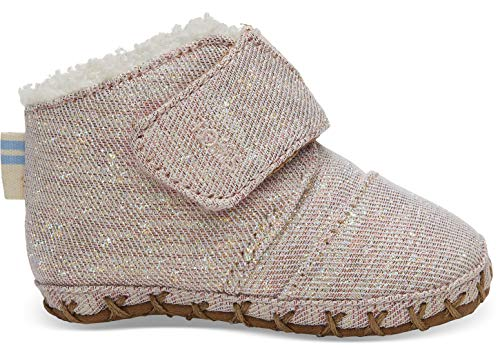 TOMS Kids Baby Girl's Cuna (Infant/Toddler) Rose Cloud Twill Glimmer 3 M US Infant M