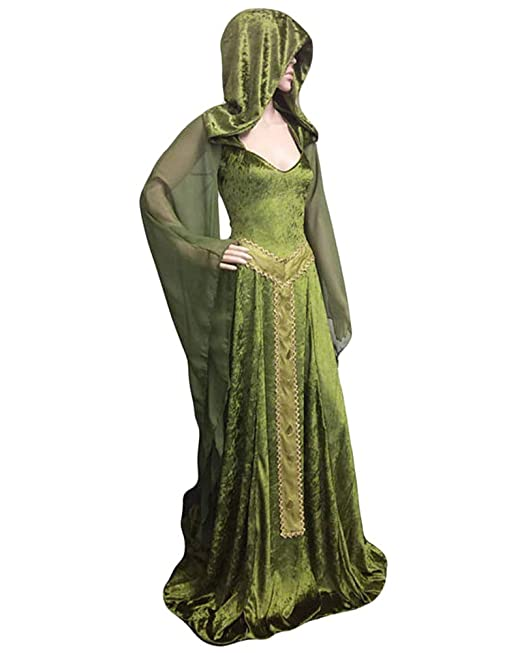 DianShaoA Vestido De Traje Renacentista Medieval Vestido Largo De Estilo Victoriano Gotico con Mangas Llamaradas: Amazon.es: Ropa y accesorios