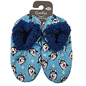 Siberian Husky Super Soft Women's Slippers - One Size Fits Most - Cozy House Slippers - Non Skid Bottom - perfect for Siberian Husky gifts 3