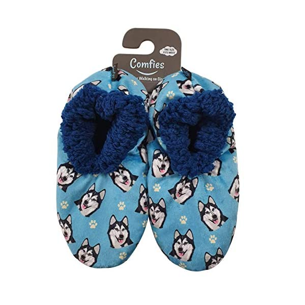 Siberian Husky Super Soft Women's Slippers - One Size Fits Most - Cozy House Slippers - Non Skid Bottom - perfect for Siberian Husky gifts 1