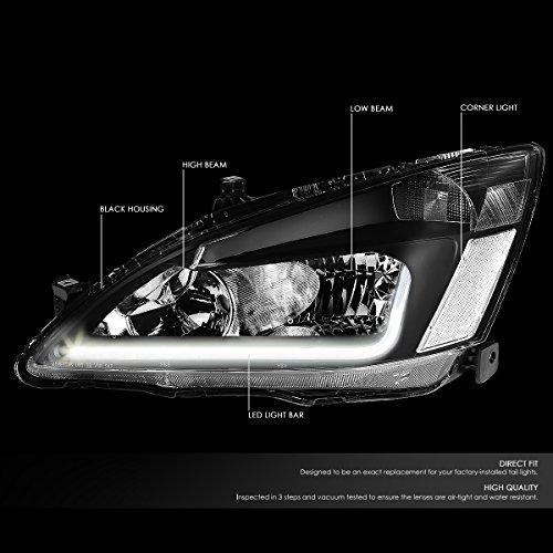 Buy 2004 honda accord headlights black
