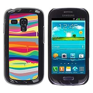 YOYOYO ( NO PARA S3 i9300 ) Smartphone Protección Defender Duro Negro Funda Imagen Diseño Carcasa Tapa Case Skin Cover Para Samsung Galaxy S3 MINI I8190 I8190N - blob pintura que gotea líneas modelo colores