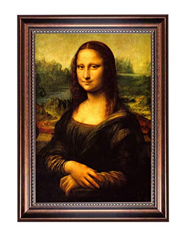 Eliteart- Mona Lisa by Leonardo Davinci Oil Painting Reproduction Giclee Wall Art Canvas Prints-Framed