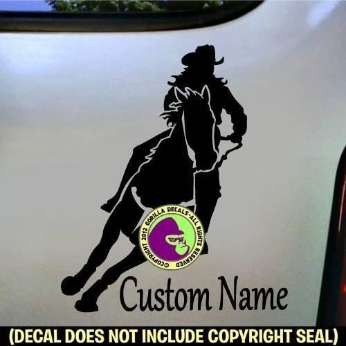 Country Breeches (Barrel Racing ADD CUSTOM WORDS Vinyl Decal Sticker B)