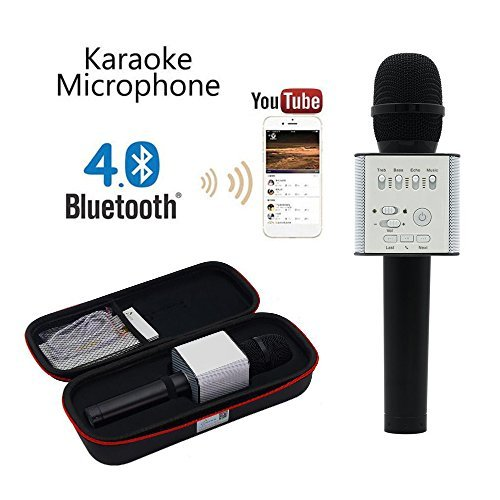 Q9 [Upgraded Version] Wireless Microphone with Speaker Karaoke Pro, 3-in-1 2200mAhBluetooth Speaker Machine for iPhone Apple Android PC and Smartphone (Christmas Kids Gifts) by MICGEEK