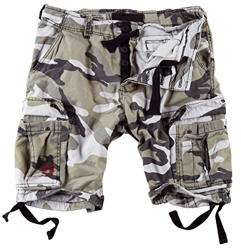 Surplus Men's Airborne Vintage Shorts Washed Urban Size 6XL