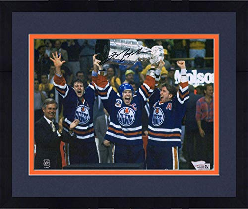 Oilers Messier Autographed Mark - Framed Mark Messier Edmonton Oilers Autographed 8