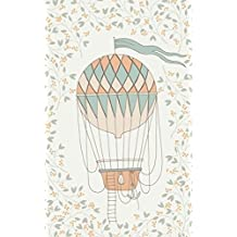 Melon Hot Air Balloon & Basket - Lined Notebook with Margins - 5x8: 101 Pages, 5 x 8, College Ruled, Journal, Soft Cover