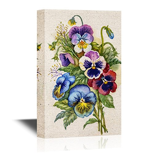Pansy Flower Wall Art - Colorful Watercolor Pansy Flowers