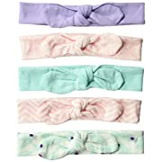 Hudson Baby Baby Headband, 5 Pack, peacock feathers, 0-24 Months