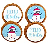 Chomp a'Lomp Cookies, Christmas Holiday Cookies, Happy Snowman, Chomp a'Lomp Clear Top Box, 4 Decorated, 8 Plain