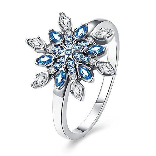 Women Charms Jewelry Zircon 925 Silver Popular Statement Rings by GOMAYA