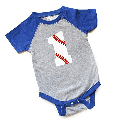 1 Baseball Birthday Bodysuit Boy/Girl First Bday Baby Raglan Shirt 1st Trendy Gift Heads Up Shirts