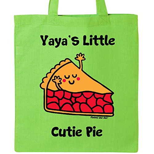 Inktastic - Yaya' little Cutie Pie Tote Bag Lime Green - Flossy And Jim