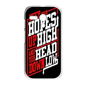 Motorola G Cell Phone Case White Rock Band ADTR A Day To Remember O4491694