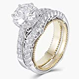 DovEggs Solid 14k White Gold Yellow Gold 1.5ct
