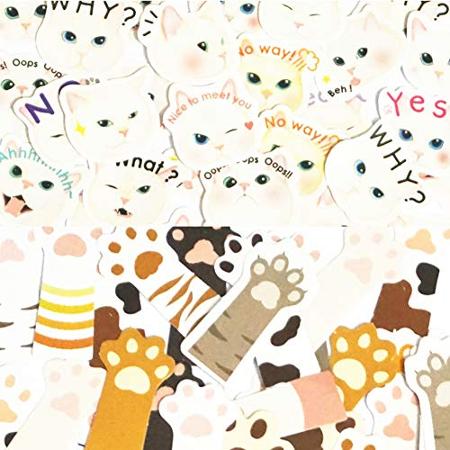 (270Pcs Stickers Set Scrapbooking Stickers for Journal Planner DIY Crafts Scrapbooking Embelishment Diary (Cat and Cat Claw))