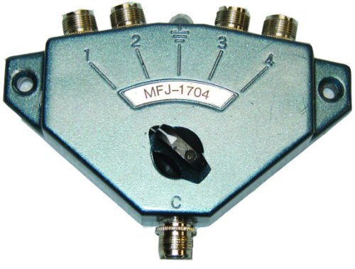 Hi Power Antenna Switch For Amateur/CB/Two-Way Radios - 4 Position. HF/VHF/UHF