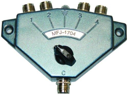 Hi Power Antenna Switch For Amateur/CB/Two-Way Radios - 4 Position. HF/VHF/UHF -  MFJ, MFJ-1704
