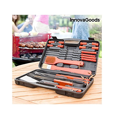 InnovaGoods ig116868/Briefcase for Barbecues One Size Black//Orange Unisex Adult