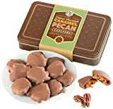 Golden State Fruit Handmade Real Milk Chocolate Caramel Pecan Clusters in Gift Tin