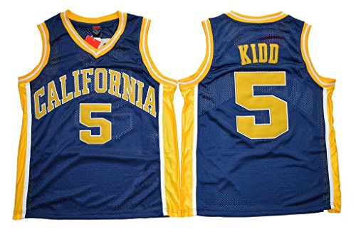 Generic Men's Jason Kidd 5 California Golden Bears College Basketball Jersey Navy Blue