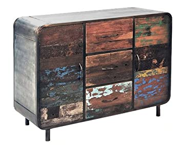 Sideboard Anrichte Kommode Vadso Recyclingholz Massivholz Metall