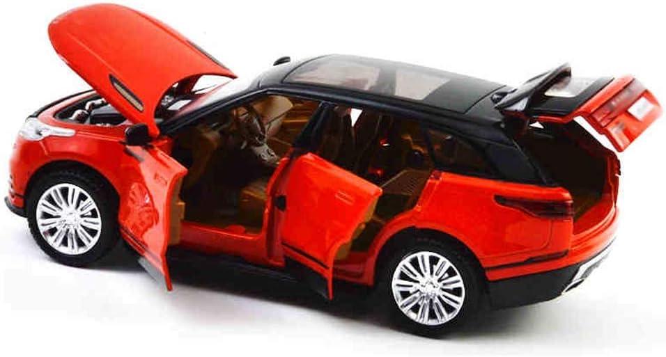 Xolye Suono e Luce Tira Indietro Sportello d'auto Metallo Tira Indietro in Lega Auto Simulazione for Bambini Modello Tira Indietro Modello dell'automobile della Lega Boy Toy Car 1:32 Car Rosso