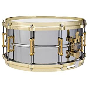 ludwig chrome plated brass 6 1 2 x14 snare drum musical instruments. Black Bedroom Furniture Sets. Home Design Ideas