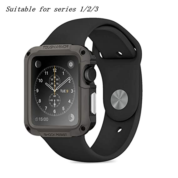 official photos fb121 b677a Amazon.com: Applicable to Apple Watch iwatch SGPTPU PC with Screen ...