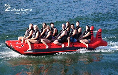 Island Hopper Red Shark 10 Passenger Elite Class Heavy Commercial Banana Boat