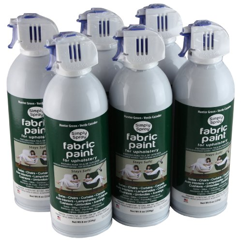 (Simply Spray Upholstery Fabric Spray Paint 6 Pack Hunter Green)