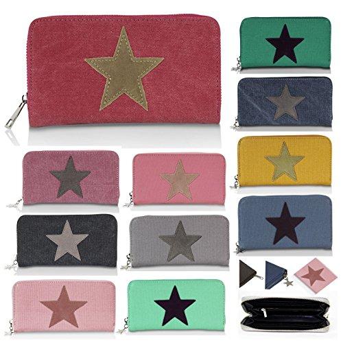 Porte Portefeuille Fonce Style Fonce Bourse Motif Avec Vintage Gris monnaie Glamexx24 Étoile bleu 1dq61X