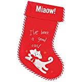 Christmas Shop Pet Cat Stocking (One Size) (Red/White)