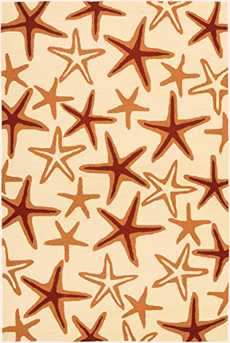 Couristan Beachfront Starfish Indoor/Outdoor Area Rug, 5'6