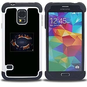 """SAMSUNG Galaxy S5 V / i9600 / SM-G900 - 3 en 1 impreso colorido de Altas Prestaciones PC Funda chaqueta Negro cubierta gel silicona suave (Chicago NFL"""")"""