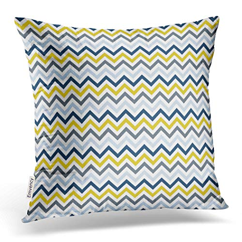 Emvency Throw Pillow Cover Navy Blue Light Yellow