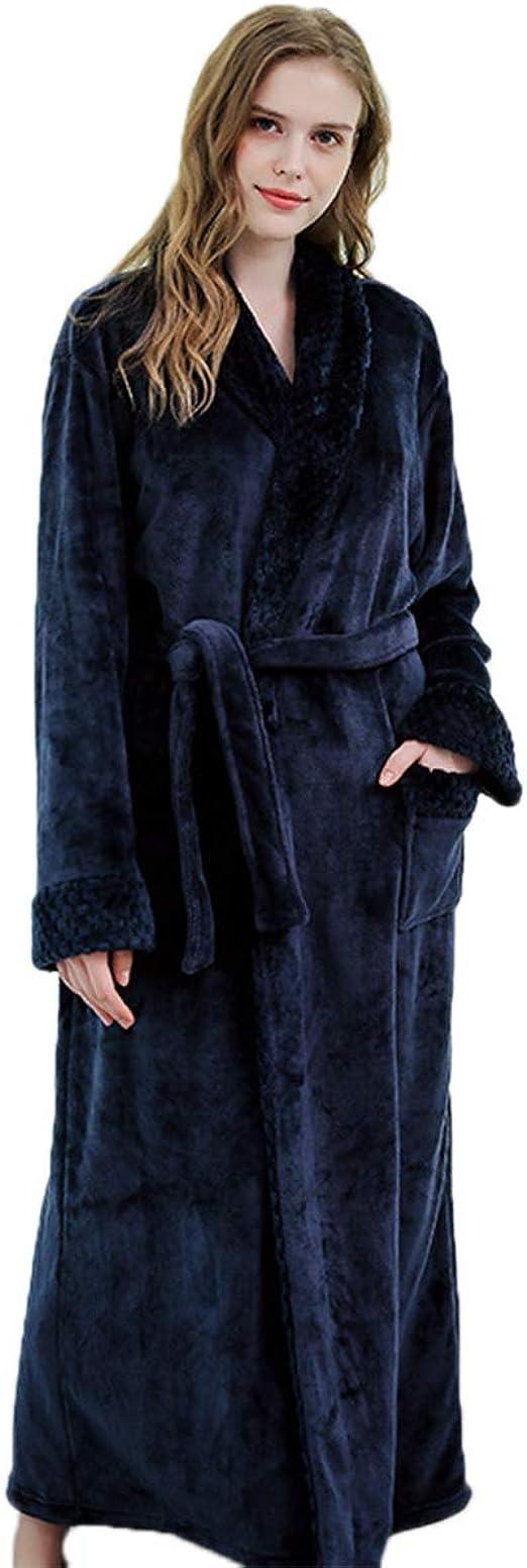 JUNMAONO Albornoz Grueso de Invierno Otoño Bata de Baño Kimono ...
