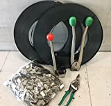 1,300# LOAD STEEL STRAPPING BANDING TOOL KIT SET Steel Strapping Kit 1500 CRIMPS & 600 FEET STEEL & TOOL