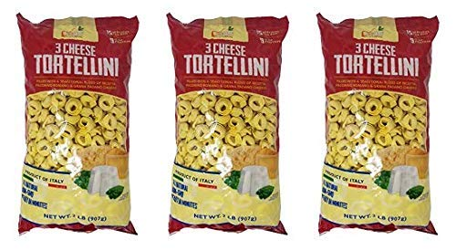 Food with Purpose 3 Cheese Tortellini All Natural, 15 Servings, From Italy 2 LB (Pack of 3) by Food with Purpose