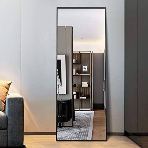 MIRRORCC Aluminum Alloy Thin Frame Full Length Mirror Floor Mirror
