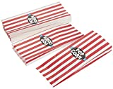 Set of 100 Popcorn Favor Bags - Carnival Parties Large Paper Popcorn and Candy Containers, Party Supplies for Movie Nights, Kids Birthday, Baby Shower, Red and White Stripes - 4.5 x 11.8 x 1.2 inches