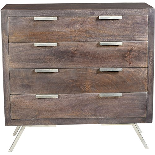 - Stein World 4-Drawer Retro Accent Chest in Ebony
