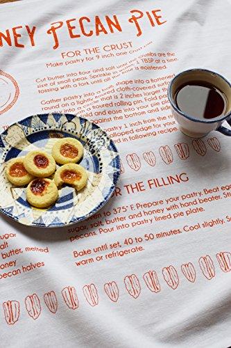 Tea Towel - Pecan Pie - Screen Printed Tea Towel - Kitchen Towel - Dish Towel - Flour Sack Towel - Recipe - Holiday Tea Towels - Gift for - Pie Holiday Recipes