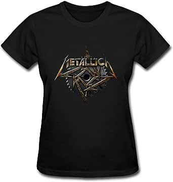 Duanfu MEALLICA Metallica Women's Cotton Short Sleeve T-Shirt