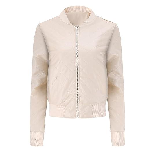 6709eff45 Transer Women Winter Warmer Slim PU Leather Stand Collar Coat ...