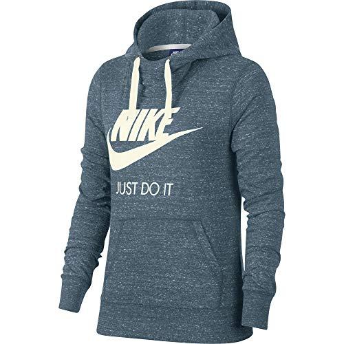 Nike Vintage Jersey - NIKE Women's Sportswear Gym Vintage Hoodie (Large, Celestial Teal/Sail)